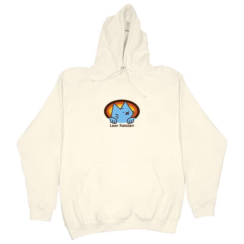 Leon Karssen Retro Logo Hoodie Vanilla