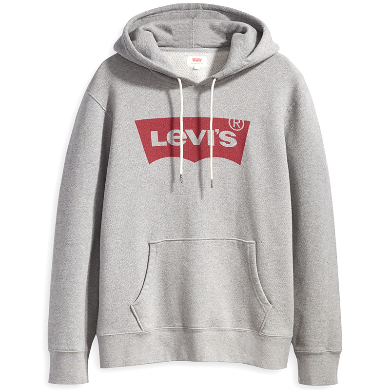 Levi's Graphic Hoodie Heather Grey