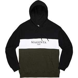 Magenta Paris Hoodie Tricolor