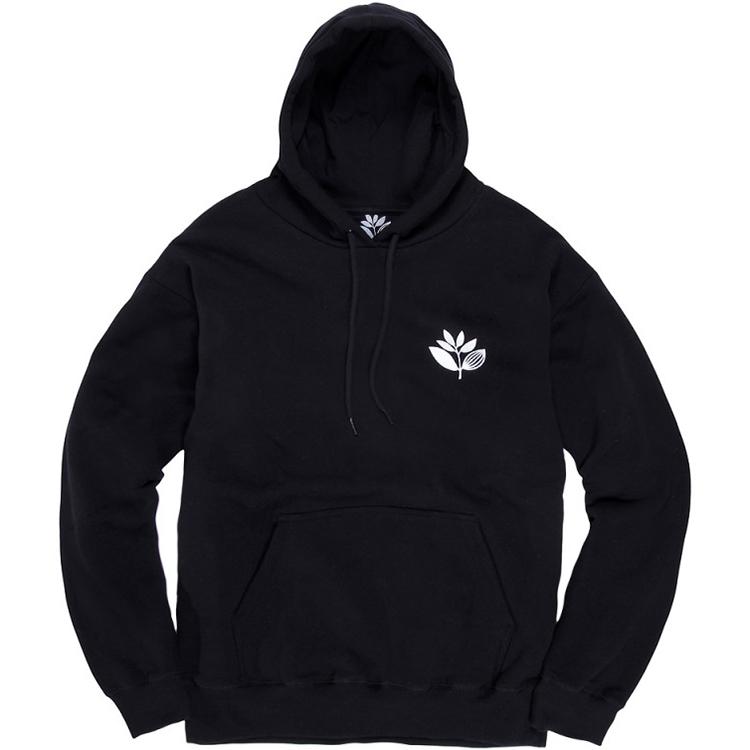 Magenta Plant Hoodie Black