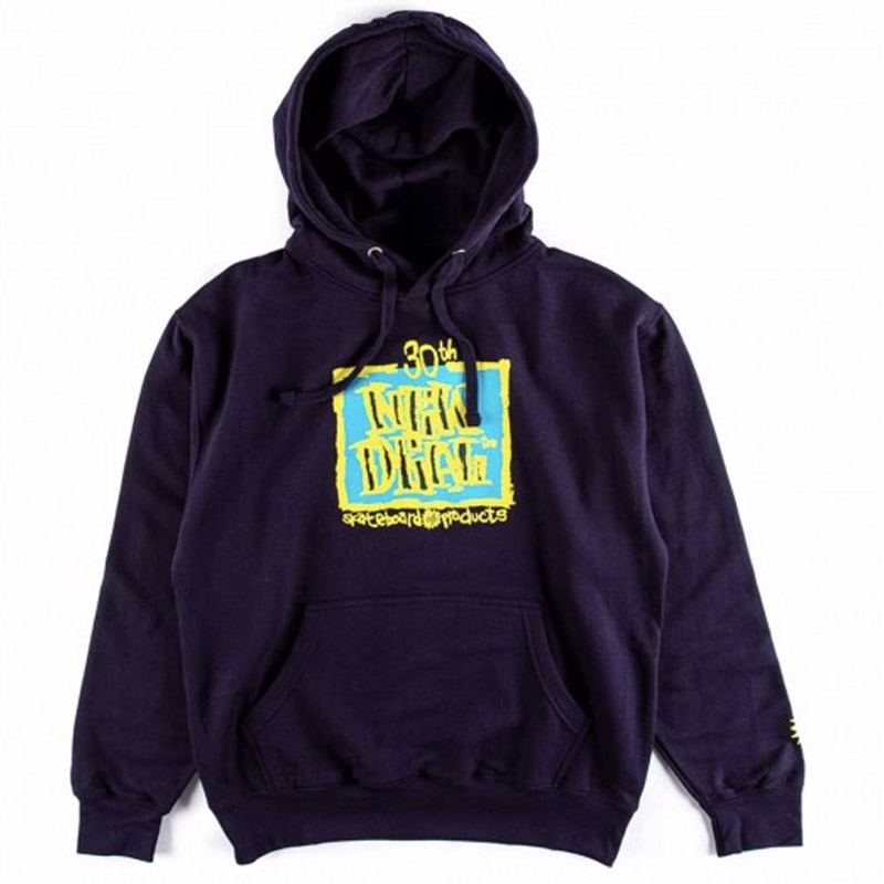New Deal WTF 30th Anniversary Napkin Logo Hoodie Navy