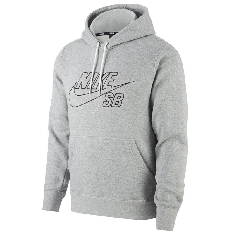 Nike SB Hoodie Dark Grey Heather/Black