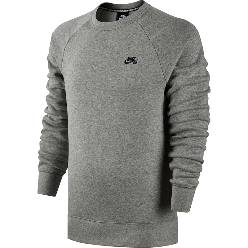 Nike SB Icon Crewneck Fleece Dark Grey Heather/Black