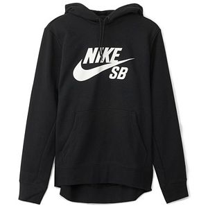 Nike SB Icon Essential Hoodie Black/White