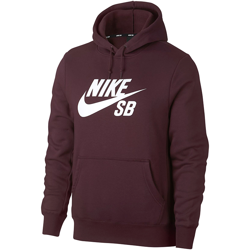 Nike SB Icon Essential Hoodie Burgundy Crush/White