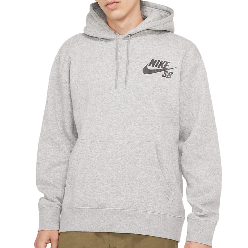 Nike SB Icon Hoodie Dark Grey Heather/Black