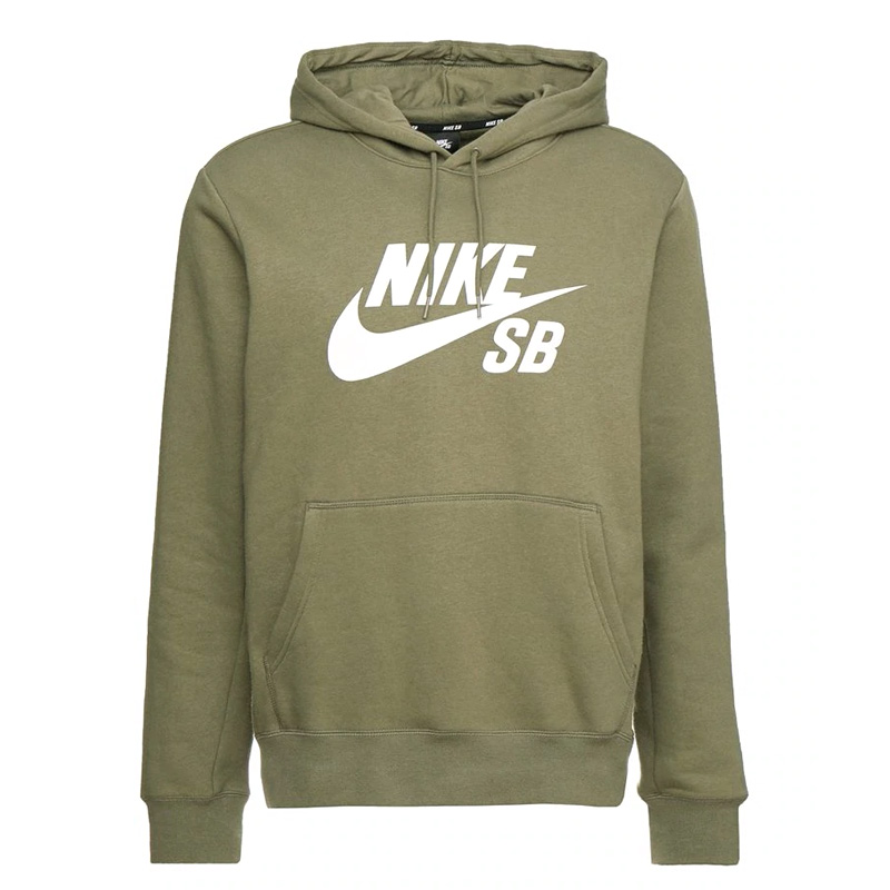 Nike SB Icon Essential Hoodie Medium Olive/White