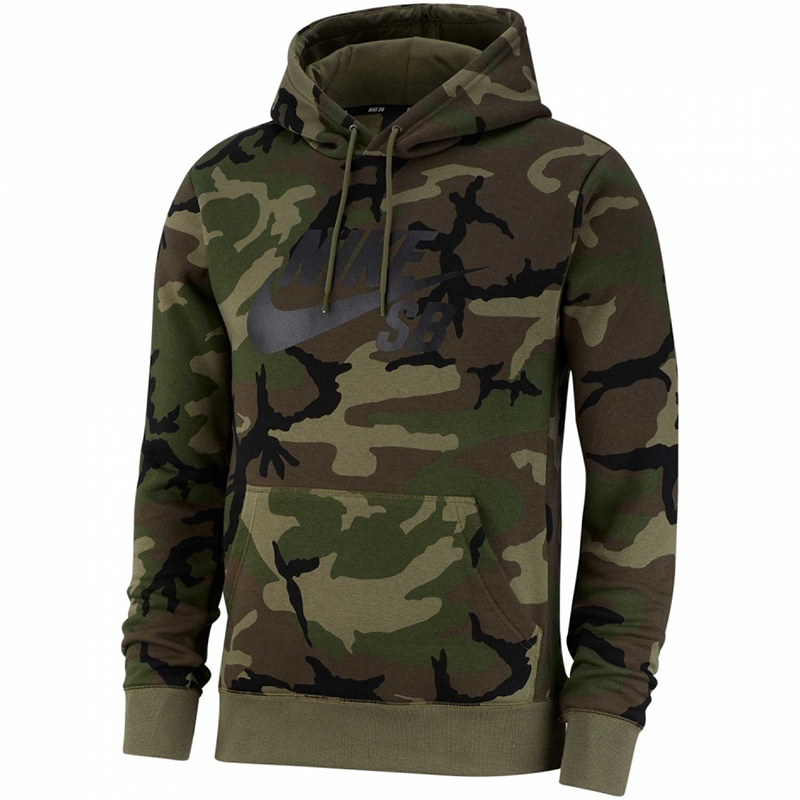 Nike SB Icon Hoodie Medium Olive/Medium Olive/Black