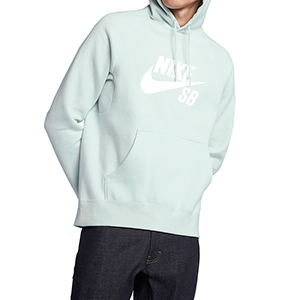 Nike SB Icon Pullover Hoodie Barely Green/White