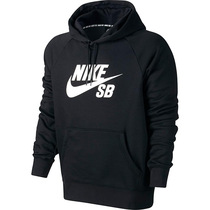Nike SB Icon Pullover Hoodie Black/White