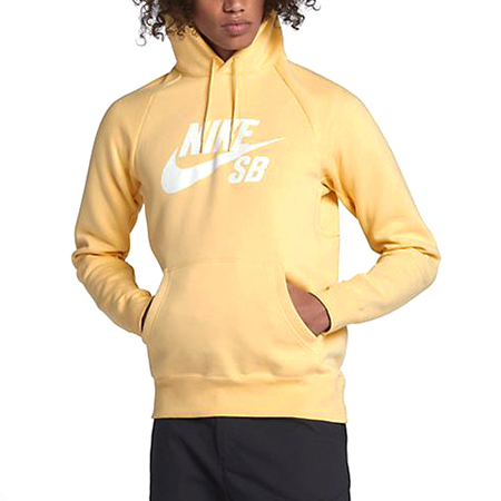 Nike SB Icon Pullover Hoodie Lemon Wash/White