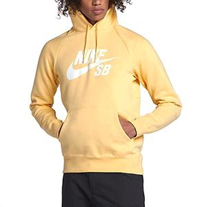 Nike SB Icon Pullover Hoodie Lemon Wash/White