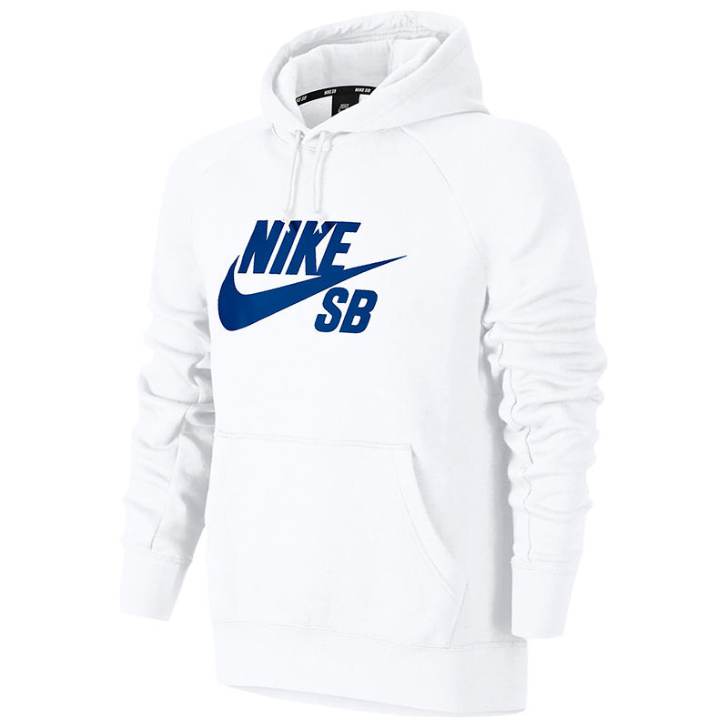 Nike SB Icon Pullover Hoodie White/Hyper Royal