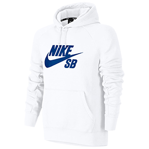 Nike SB Icon Pullover Hoodie White/Hyper Royal