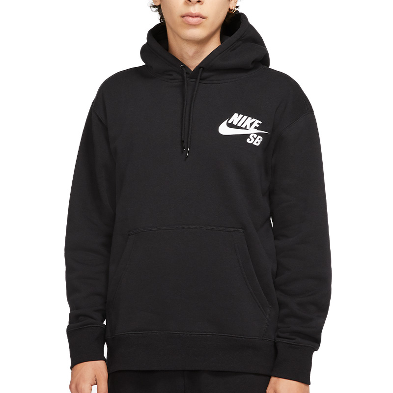 Nike SB Icon Hoodie Black/White
