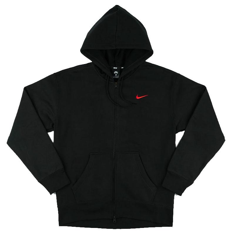 Nike SB Iso Hoodie Black/University Red