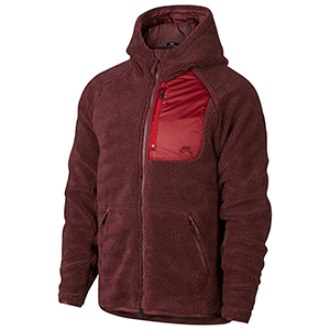 Nike SB Everett Sherpa Hoodie Dark Team Red/Gym Red