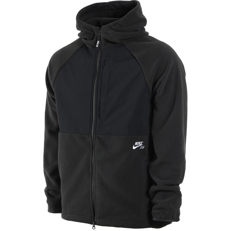 Nike SB Polartec Hoodie Black/Black/White