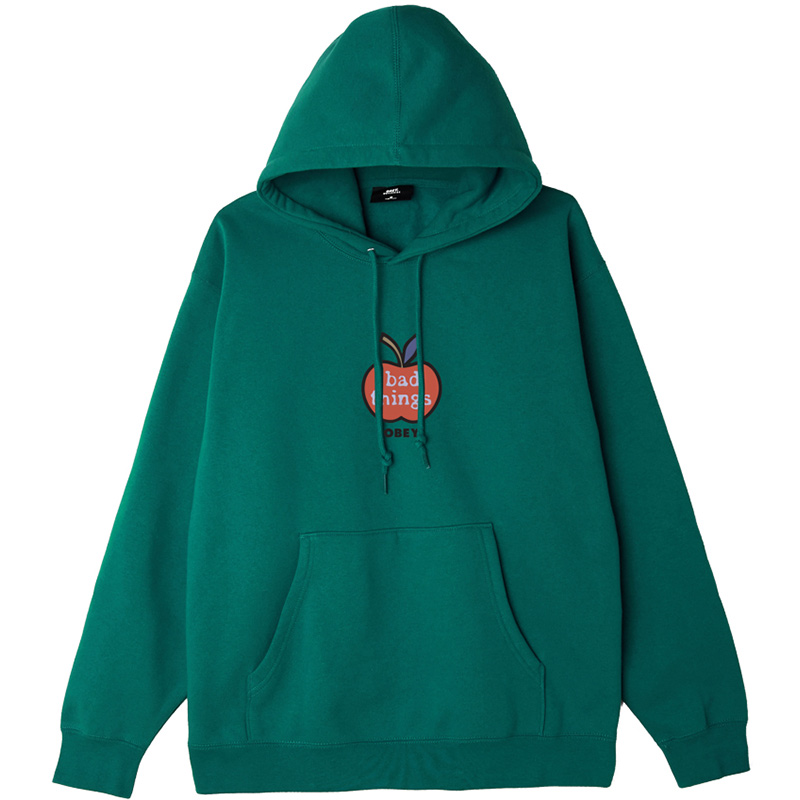 Obey Bad Things Hoodie Mallard Green