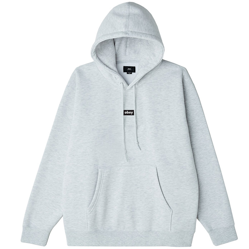 Obey Black Bar Hoodie Ash Grey