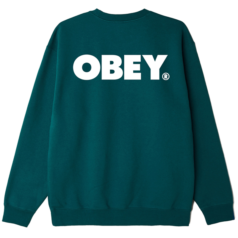 Obey Bold Crewneck Sweater Mallard Green