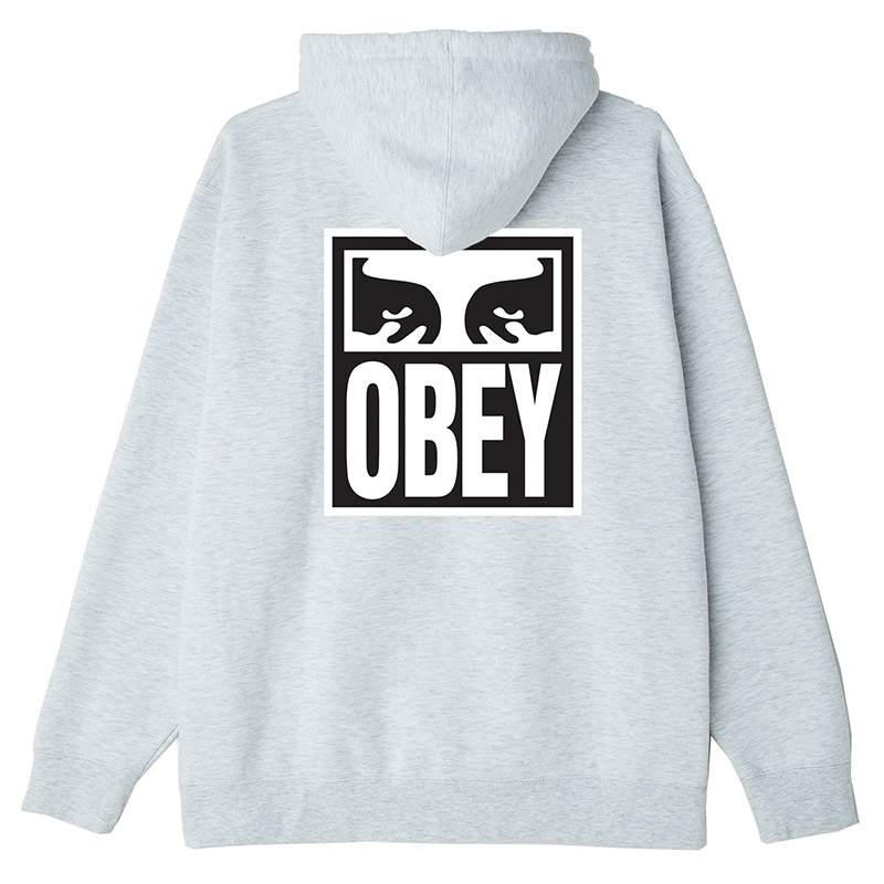 Obey Eyes Icon 2 Hoodie Heather Ash
