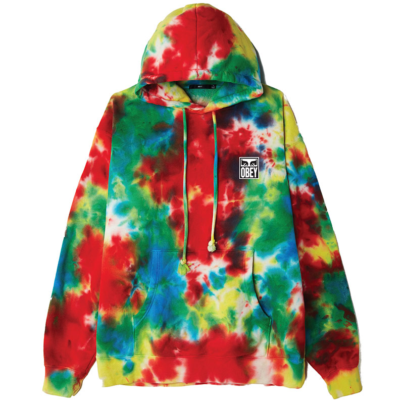 Obey Eyes Icon Hoodie Rainbow Blotch