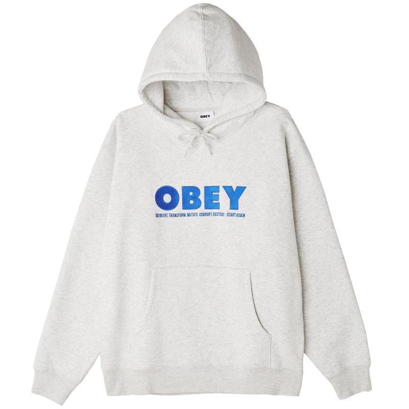 Obey Hubbs Hoodie Ash Grey