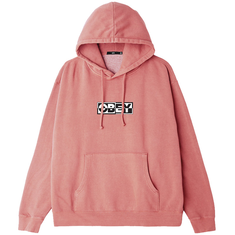 Obey Inside Out Hoodie Dusty Rose