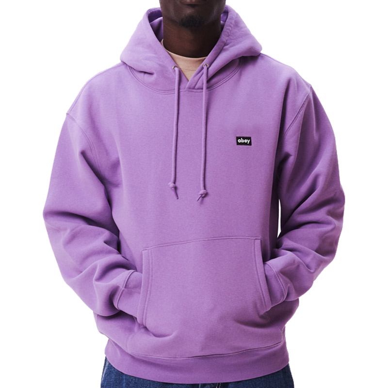 Obey Mini Box Logo Hoodie Orchid