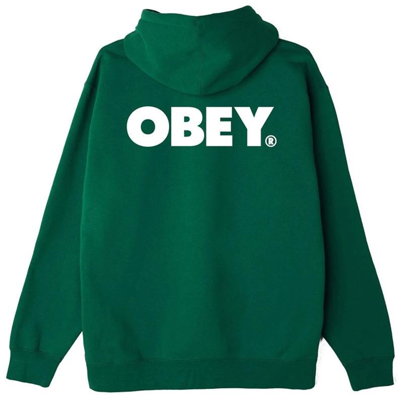Obey Bold Hoodie Mallard Green