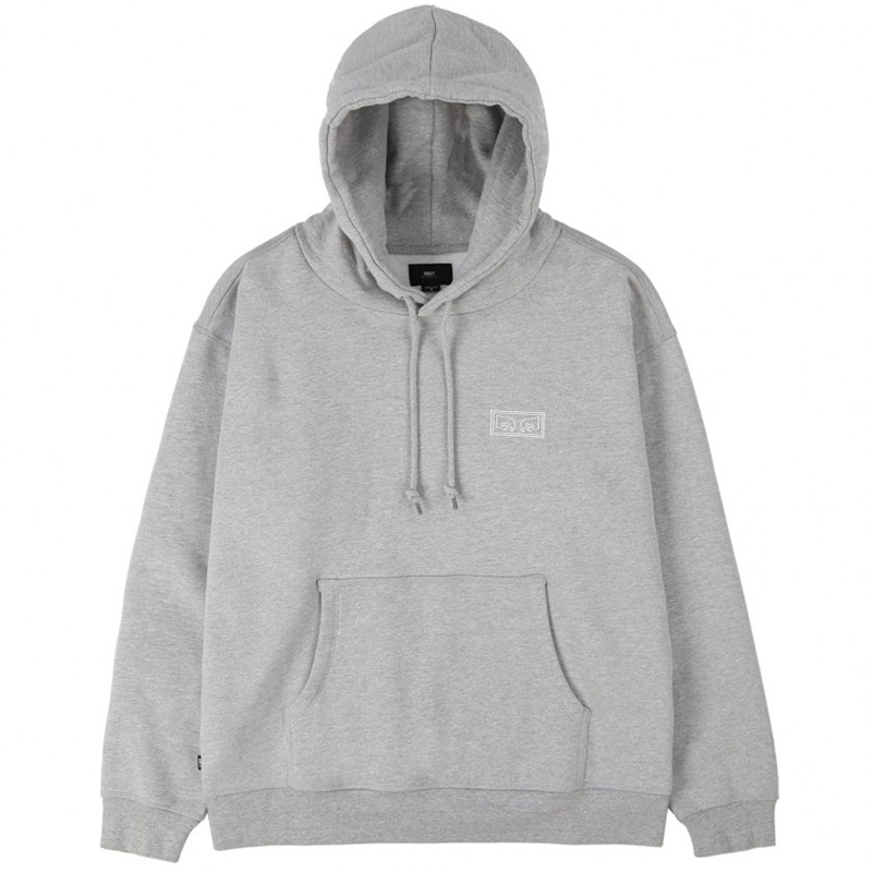 Obey Obey Eyes Heavy Hoodie Athletic Heather Grey