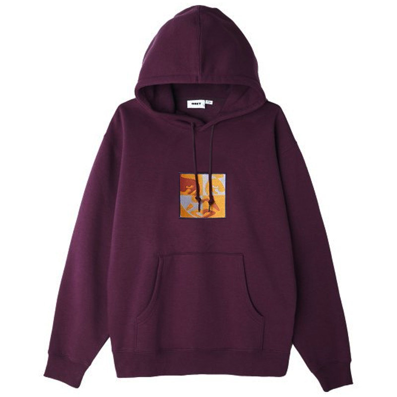 Obey Phases Icon Hoodie Blackberry Wine