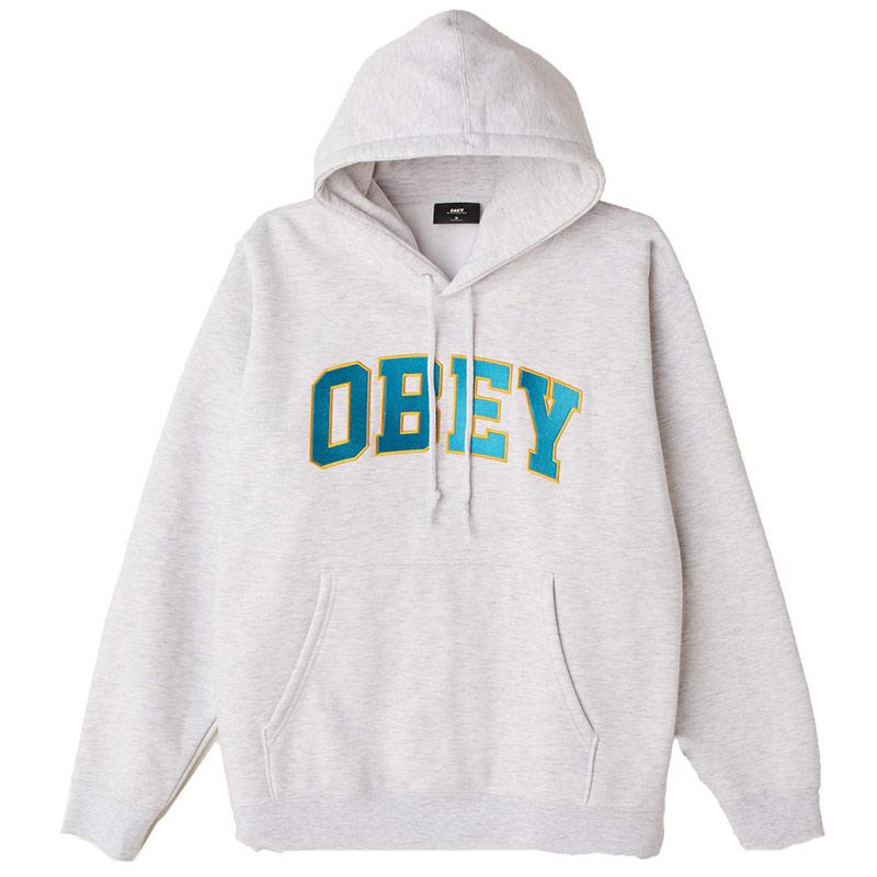 Obey Sports Hoodie Ash Grey