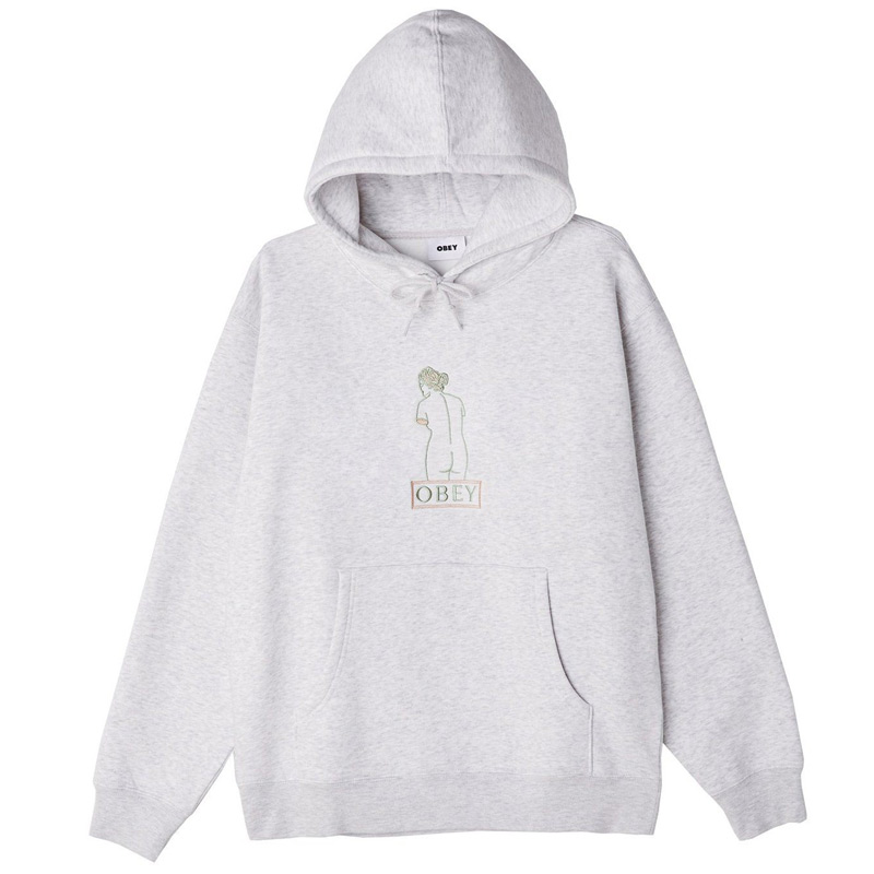 Obey Statue Hoodie Ash Grey