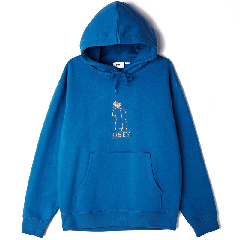 Obey Statue Hoodie Sapphire