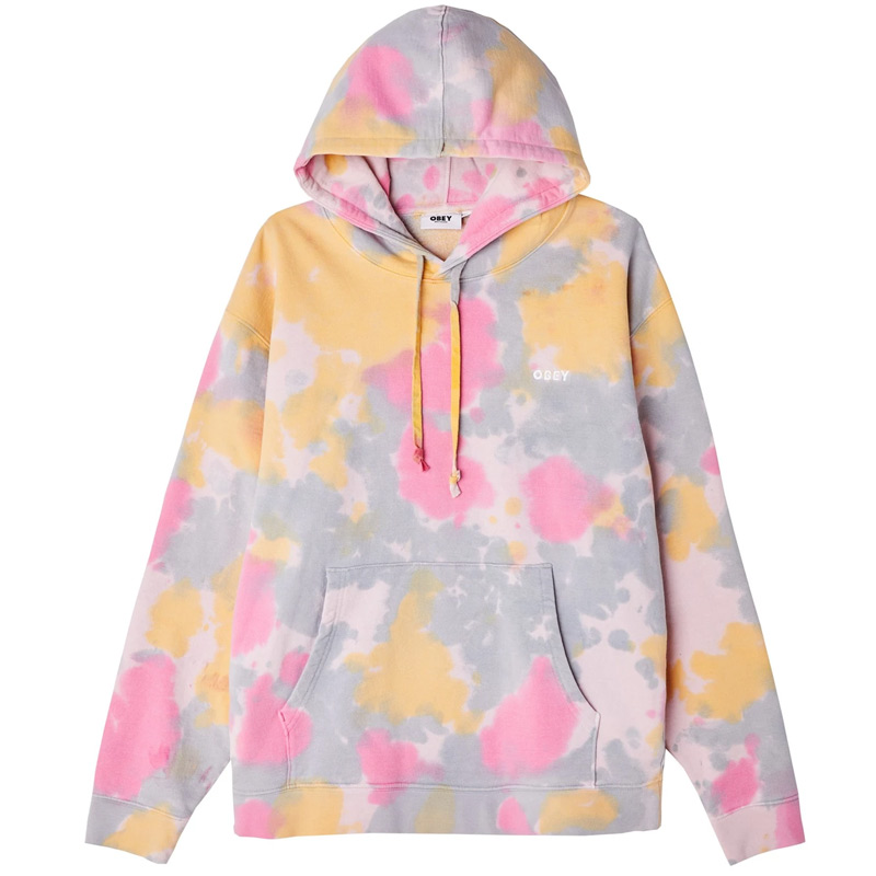 Obey Sustainable Tie Dye Fleece Yellow Multi