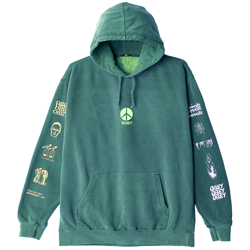 Obey The Next Wave Hoodie Dusty Teal