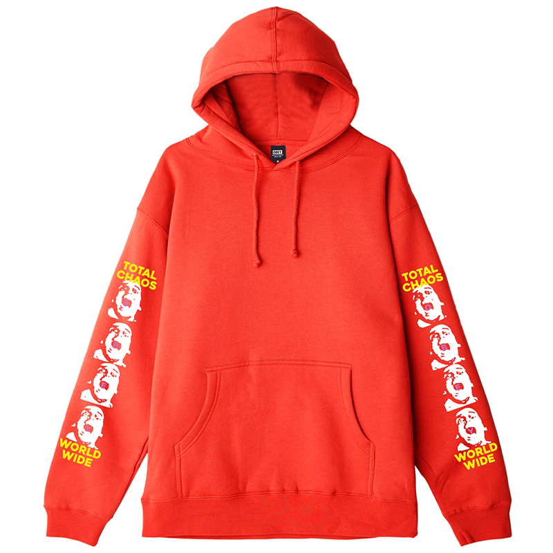 Obey Total Chaos Hoodie Red