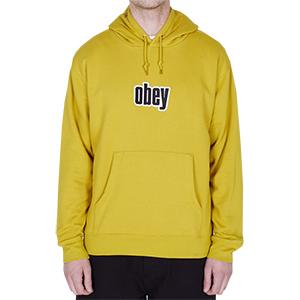 Obey Warp Hoodie Golden Olive