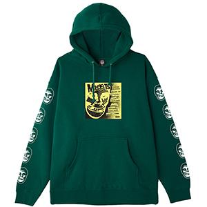 Obey X Misfits 7'' Cover Hoodie Dark green