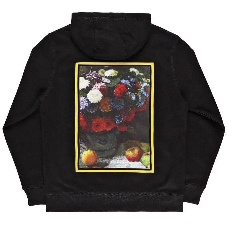 Poetic Flower Hoodie Black