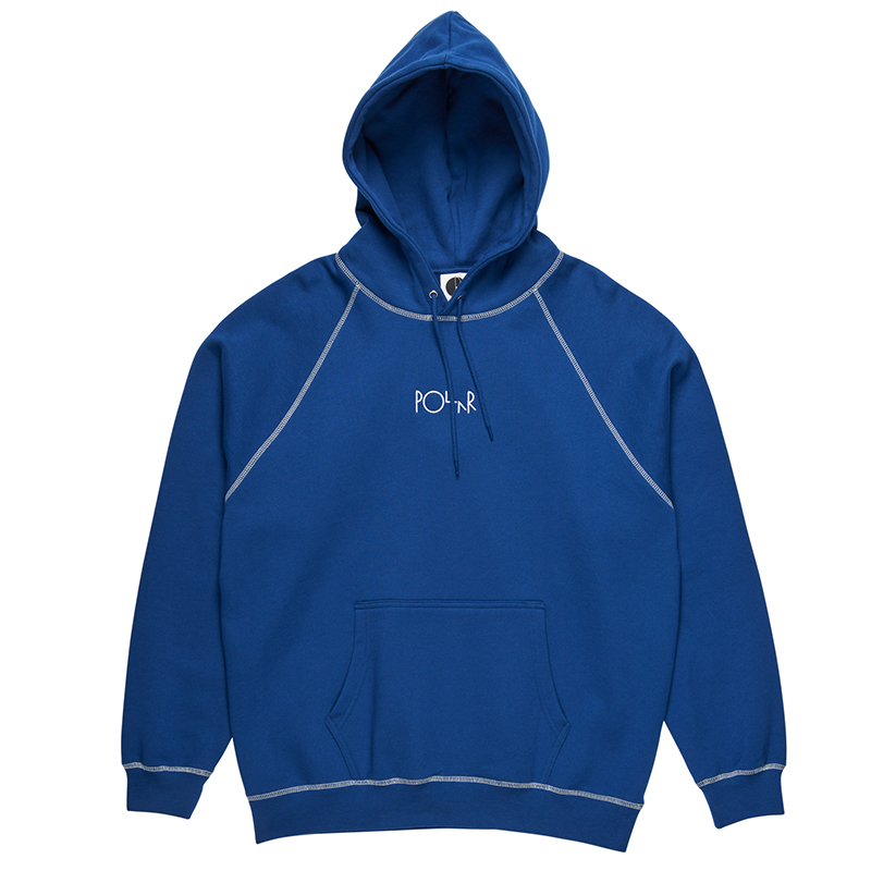 Polar Contrast Default Hoodie Dark Blue/White