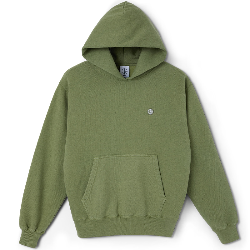 Polar Patch Hoodie Heather Green
