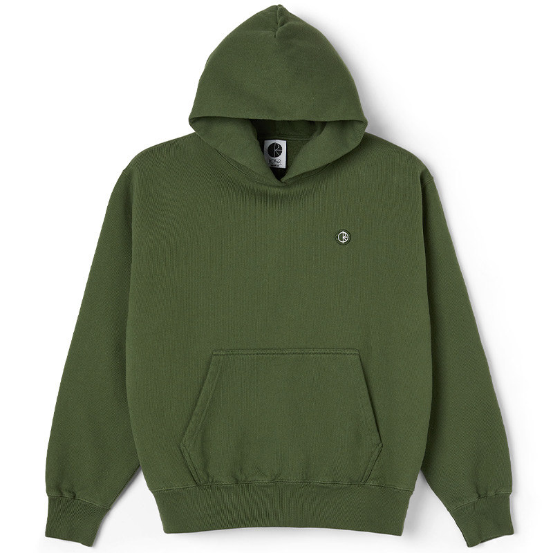 Polar Patch Hoodie Hunter Green