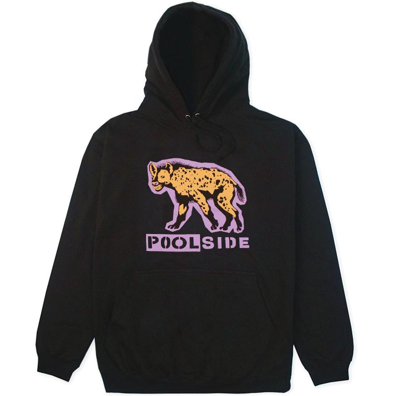 Poolside Hyena Hoodie Black