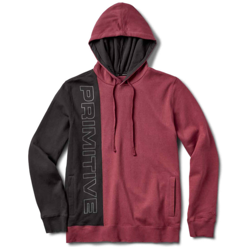 Primitive Blocks Hoodie Burgundy