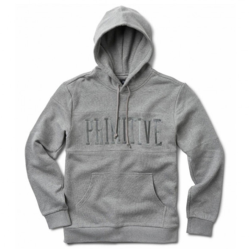 Primitive League Paneled Hoodie Grey Heather
