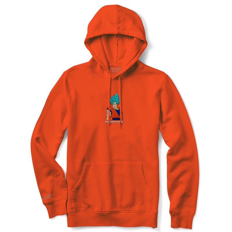 Primitive x DBS Super Goku Hoodie Orange