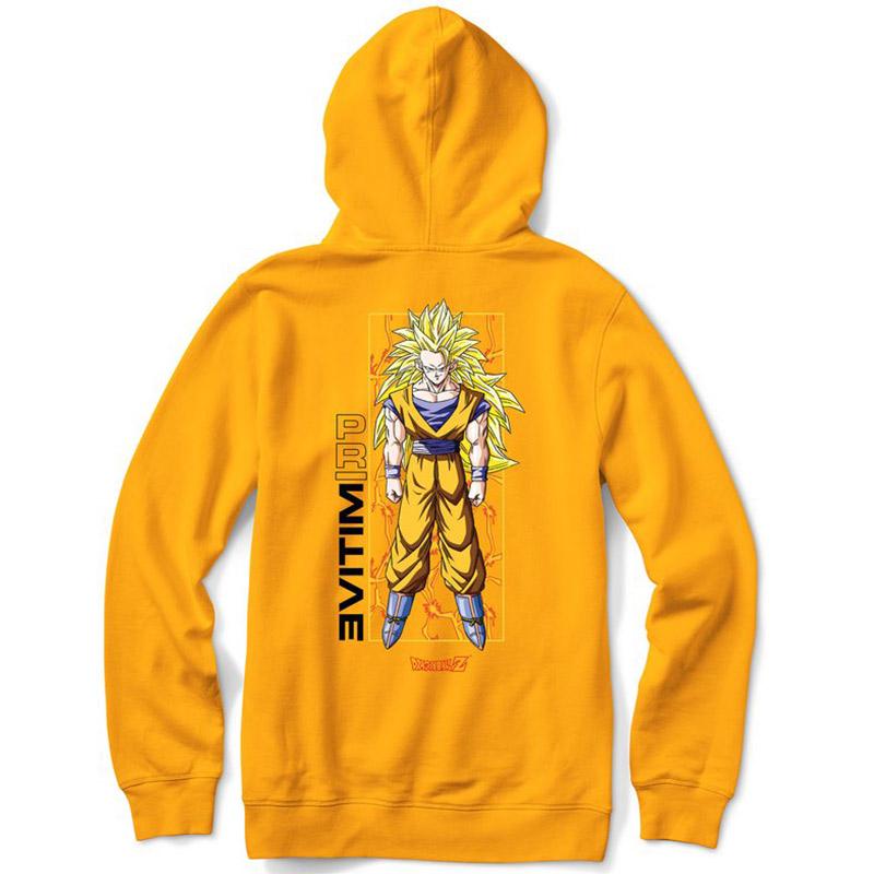 Primitive x DBZ Goku Glow Hoodie Gold